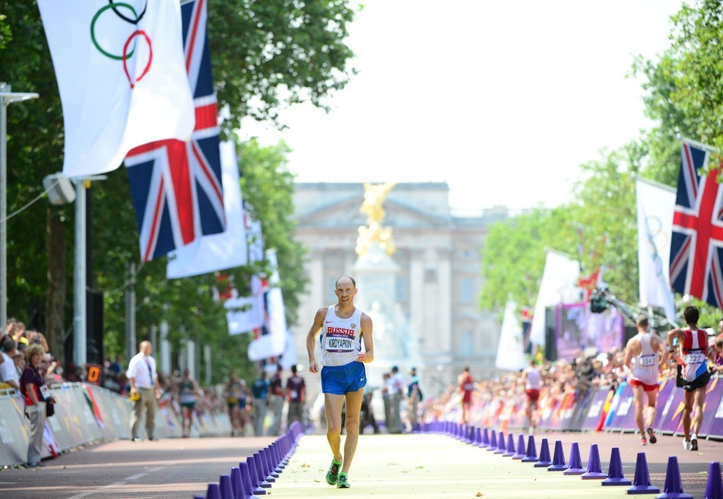 Sergey Kirdyapkin has been stripped of the 50km walk title he initially won in the British capital ©Getty Images