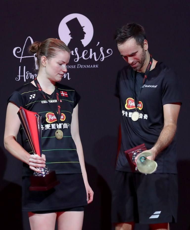 Joachim Fischer and Christinna Pedersen claimed home gold at the Denmark Open ©BWF/Facebook