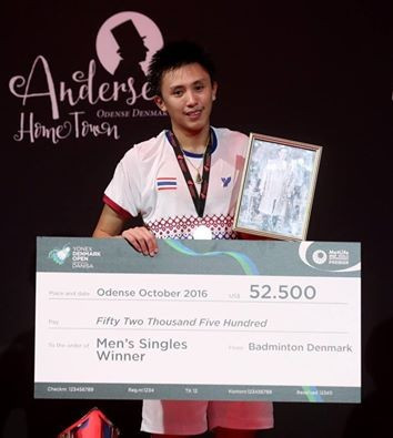 Saensomboonsuk dedicates breakthrough BWF Denmark Open singles win to late King of Thailand