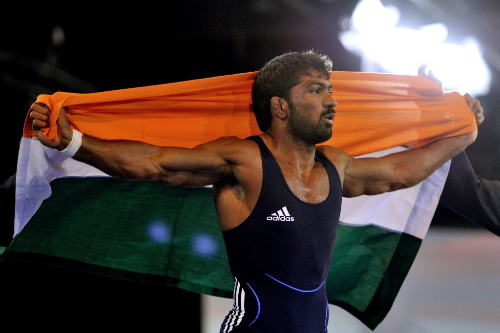 Yogeshwar Dutt said he would not accept an upgraded silver medal ©Getty Images