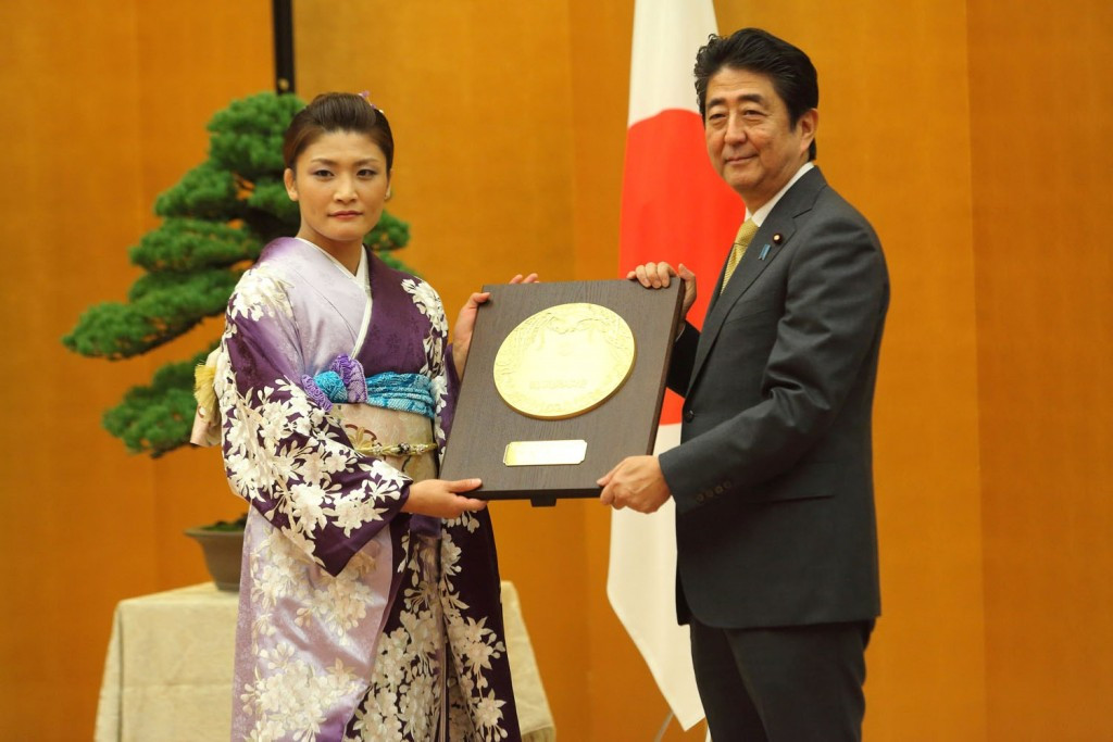 Four time Olympic champion Icho receives national honour in Tokyo