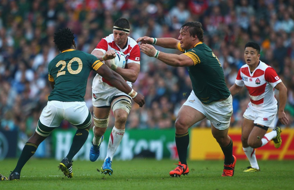 Japan's stunning win over South Africa at the 2015 Rugby World Cup has seen a rapid spark of interest in the sport in the Asian nation ©Getty Images