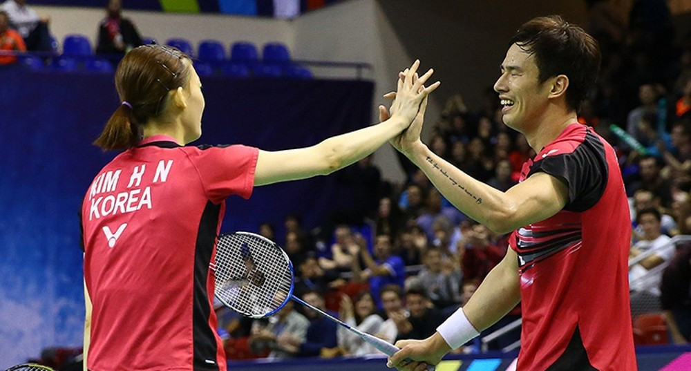 Top seeds Ko Sung Hyun and Kim Hana were among other first round winners ©BWF