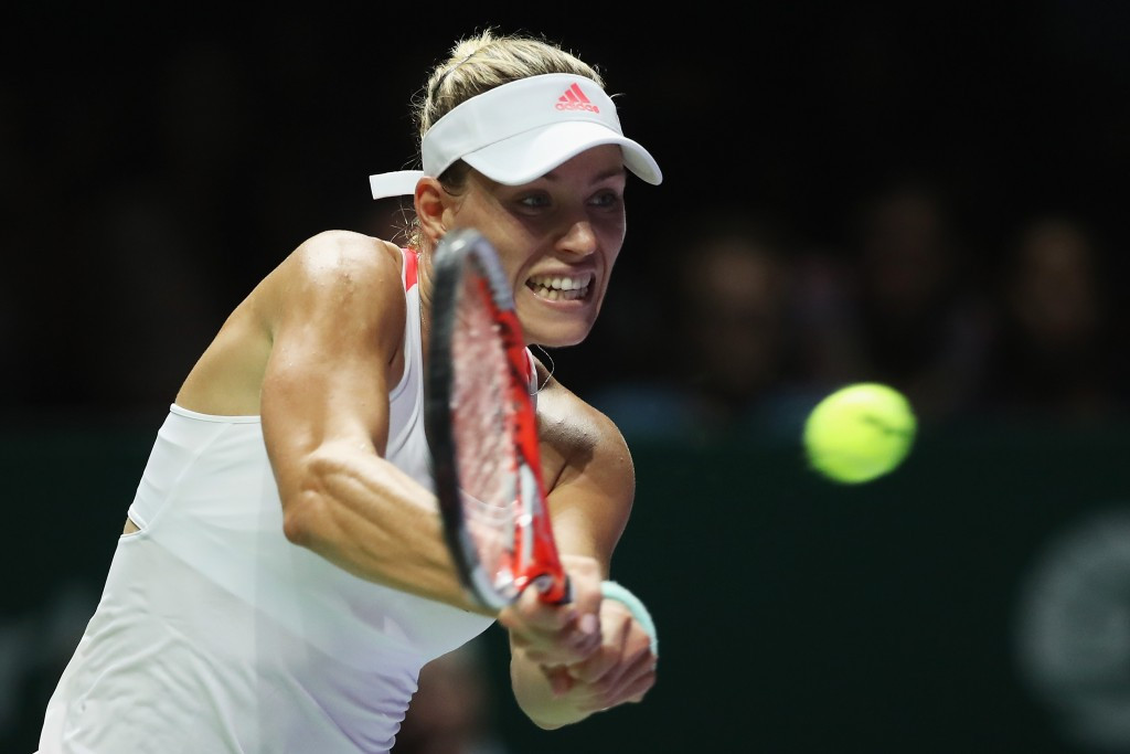Kerber moves to brink of semi-final spot at WTA Finals in Singapore