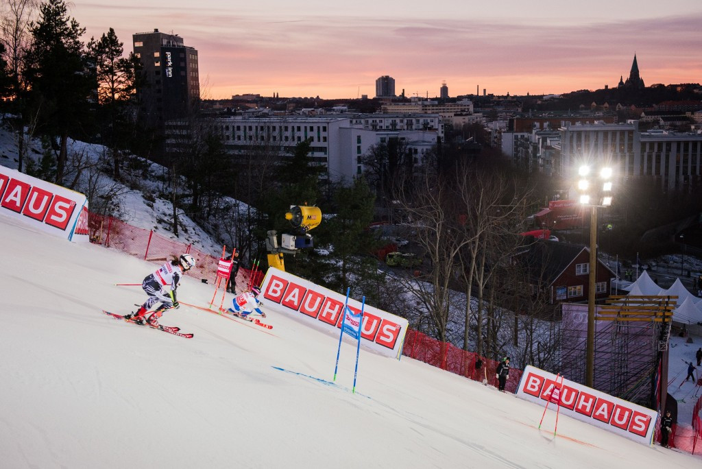 A parallel slalom competition was held as part of the FIS World Cup in Stockholm last season ©Getty Images