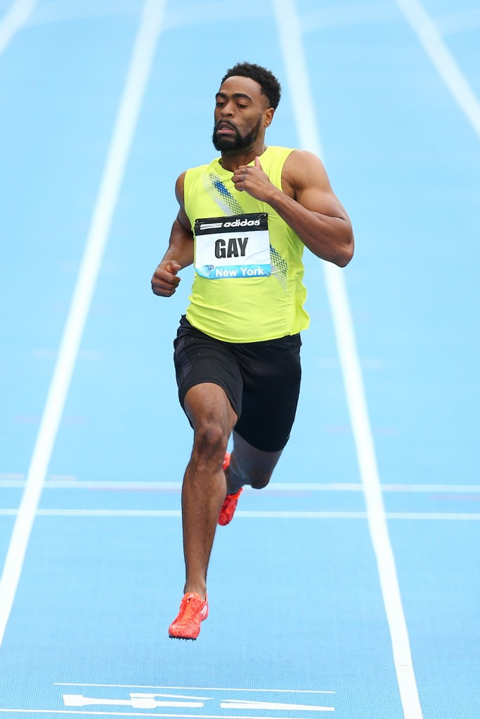Adidas dropped their association with US sprinter Tyson Gay after he failed a drugs test in 2013 ©Getty Images