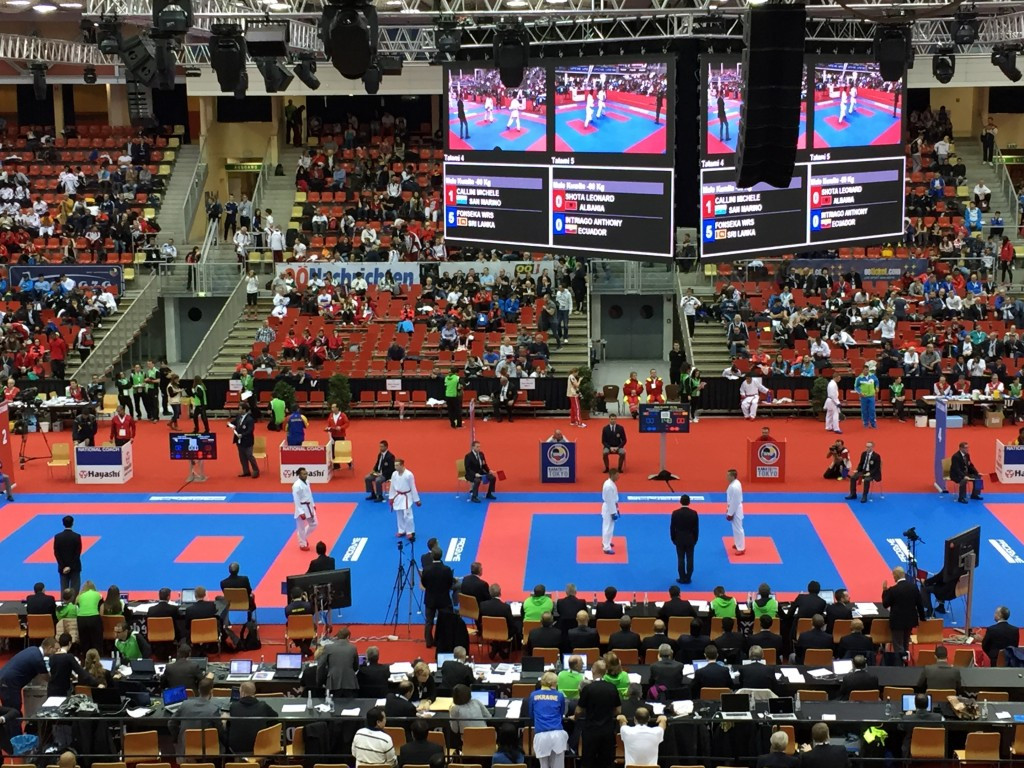 Karate World Championships: Day two of competition