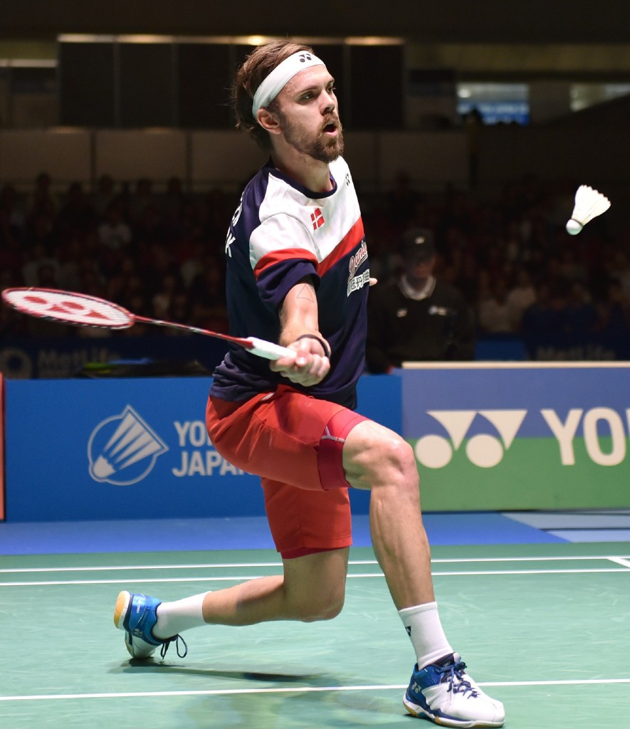 Jan Ø. Jørgensen, pictured at last month's Japan Open, was among the day's other winners ©Getty Images