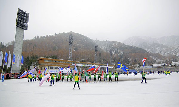 Almaty held a celebration at the Medeu Ice Rink to mark the 100 days anniversary before the start of the Winter Universiade in the city on January 28 next year ©FISU