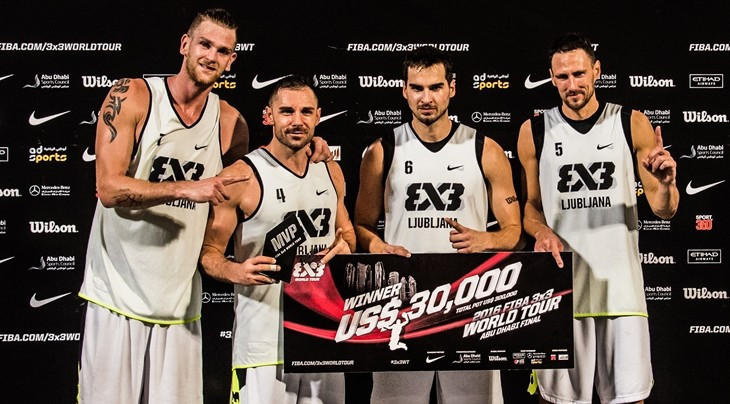 Ljubljana storm to victory at FIBA 3x3 World Tour Abu Dhabi Final