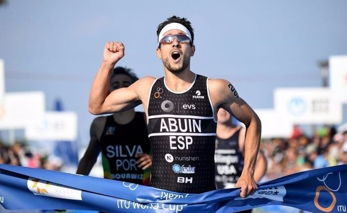 Uxio Abuin Ares of Spain was once again successful at an ITU World Cup event, this time in Miyazaki in Japan ©Delly Carr/ITU Media