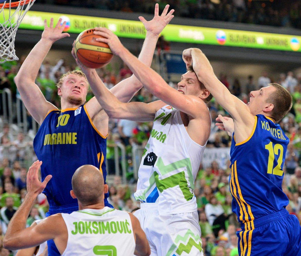 Ukraine have chosen to decline the chance to host the 2017 EuroBasket ©AFP/Getty Images