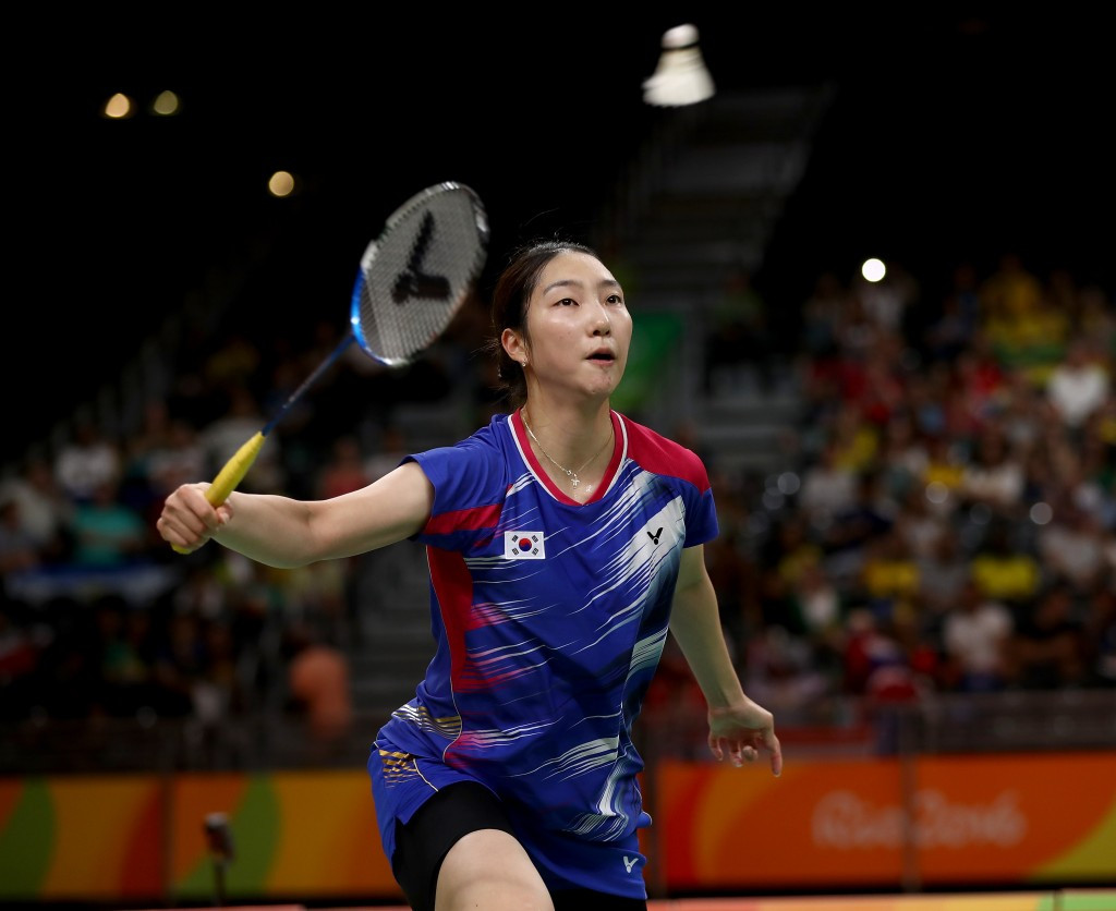 Fifth seed Sung Ji Hyun of South Korea was eliminated from the women's singles competition ©Getty Images