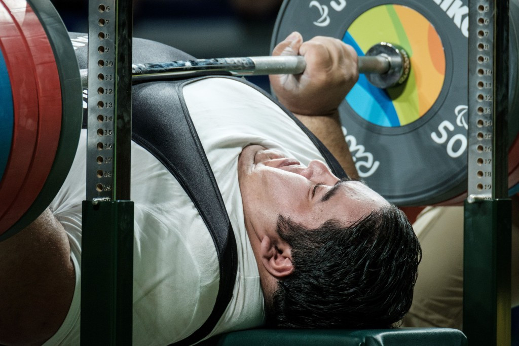 Siamand Rahman was the first powerlifter to break the 300kg mark with his lift at Rio 2016 ©Getty Images