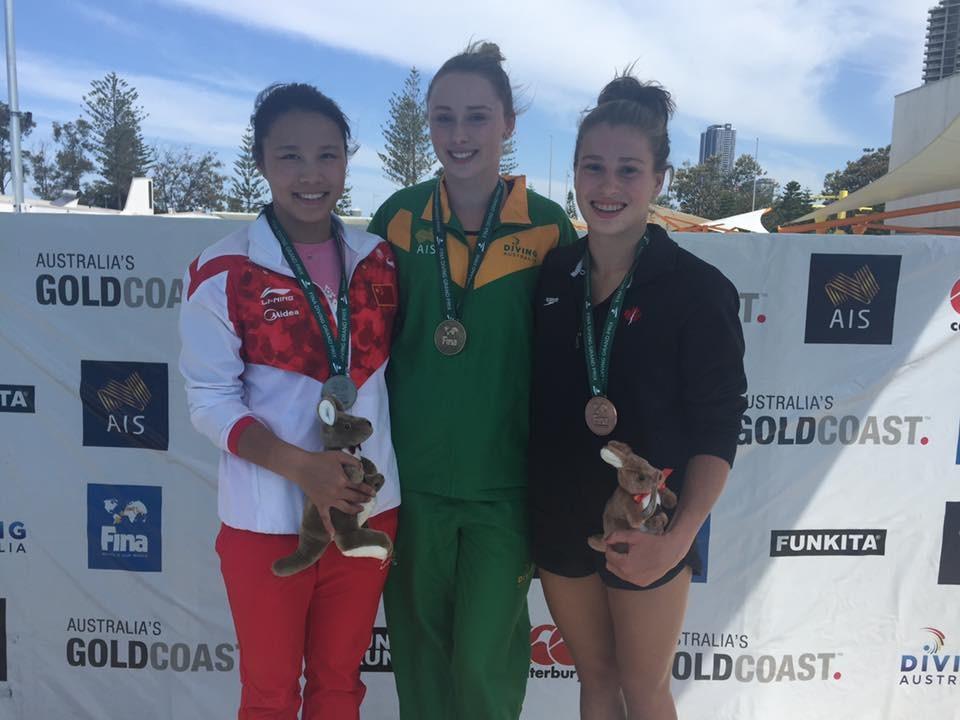 Australian teenager Sheehan earns home gold at FINA Diving Grand Prix in Gold Coast