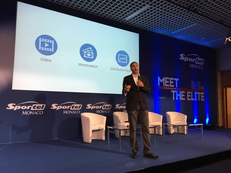 Facebook's Dan Reed was among the speakers at Sportel who explained how social media could television drive audiences rather than take viewers away ©Sportel