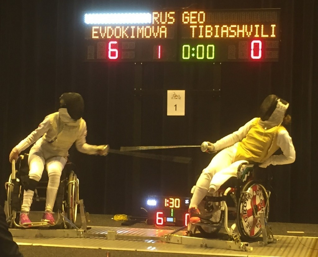 Alena Evdokimova, left, was among Russian wheelchair fencers to win gold at this month's IWAS Under-17 and Under-23 World Championships ©IWAS