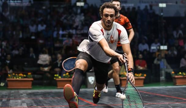 Three-time champion Ashour secures PSA Men's World Championship quarter-final spot