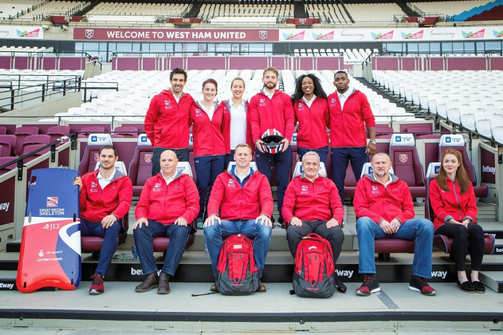 British Bobsleigh and Skeleton Association revealed their 2016-2017 performance squad at a special event held at the Olympic Stadium on the Queen Elizabeth Olympic Park in London ©BBSA