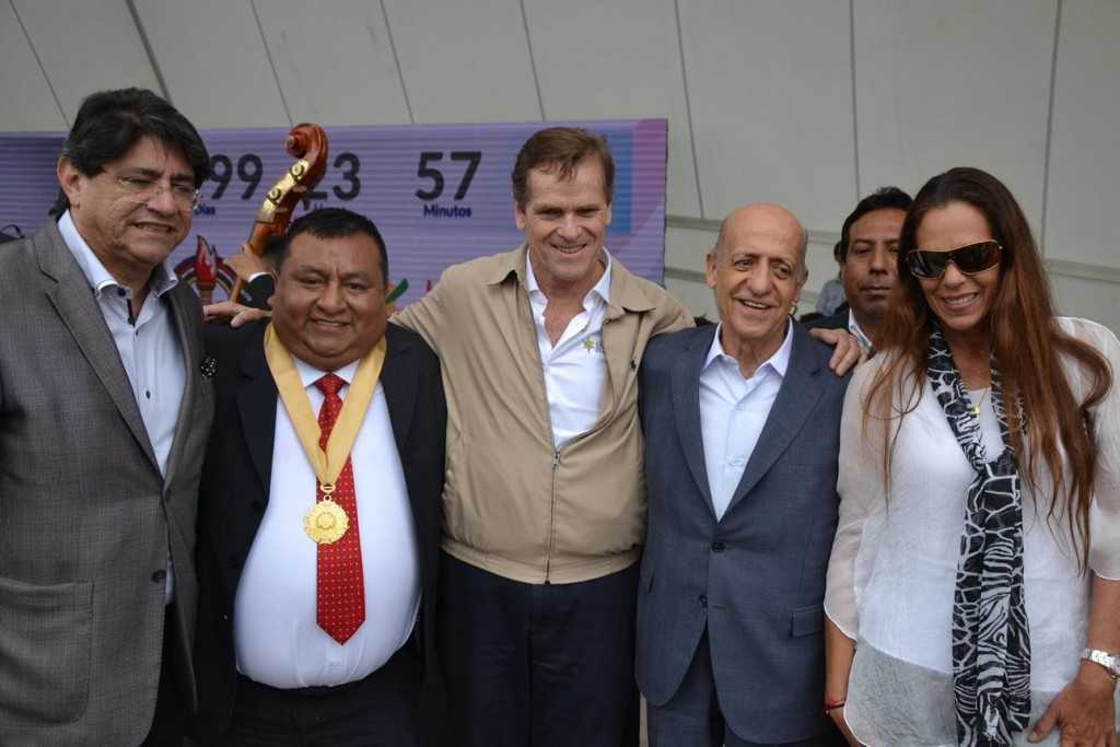 PASO President Julio Maglione, second right, led the delegation to Lima ©Getty Images