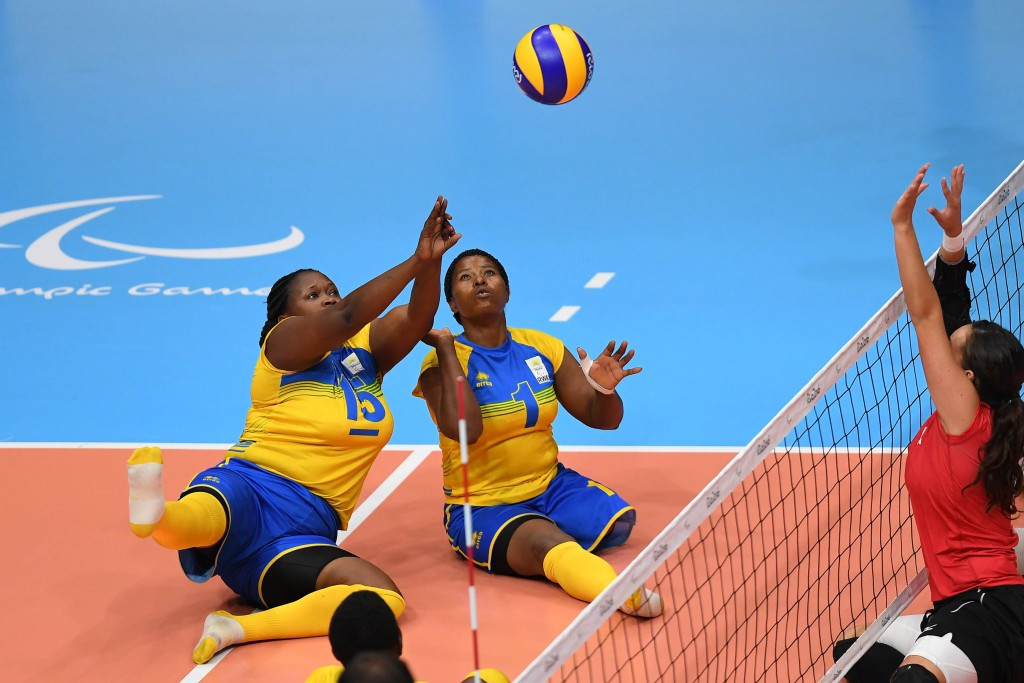 Rwanada and Egypt represented Africa in sitting volleyball at Rio 2016 ©Getty Images