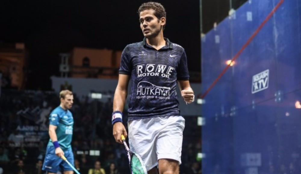 Egypt's Karim Abdel Gawad eliminated England's Nick Matthew at the quarter-final stage ©PSA