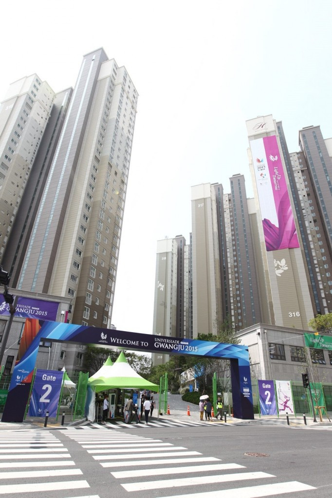 Gwangju 2015 host media day in Athletes' Village prior to official opening