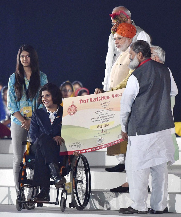 India's first female Paralympic medallist receives cash reward from Prime Minister