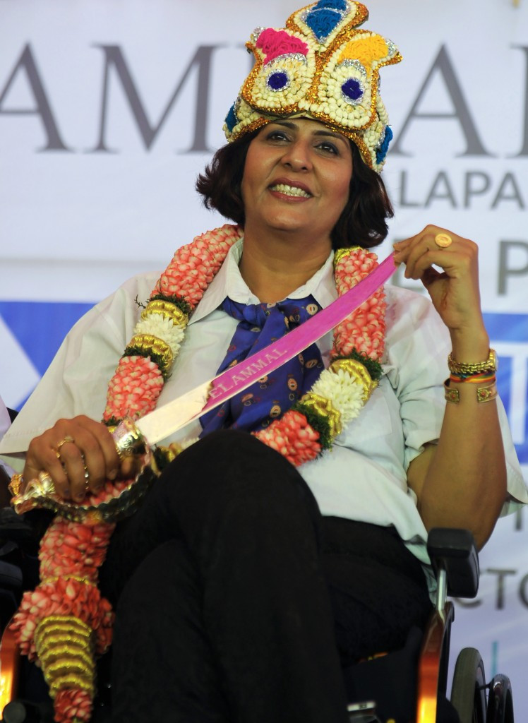 Deepa Malik won a Paralympic silver medal in the women's shot put F53 event at Rio 2016 ©Getty Images