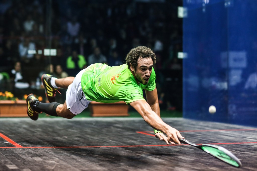 Three-time world champion Ramy Ashour came through his tie against fellow Egyptian Fares Dessouky ©PSA
