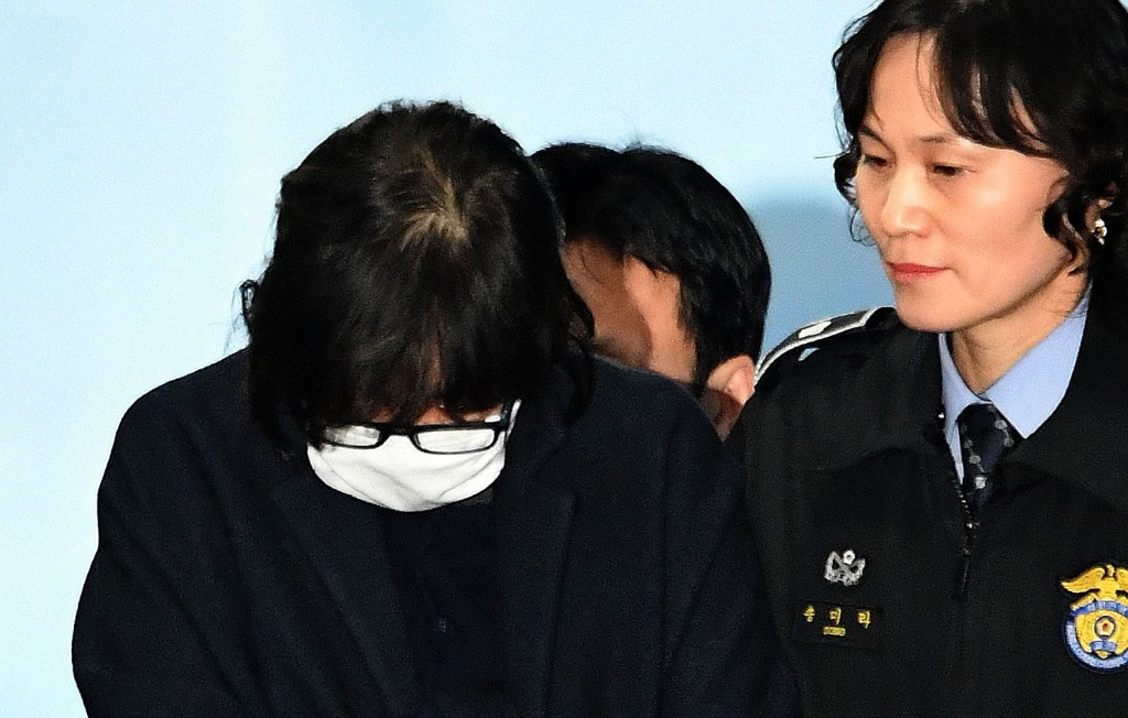 Choi Soon-sil, the woman at the centre of allegations threatening to bring down the South Korean Government, has been detained in Seoul ©Getty Images
