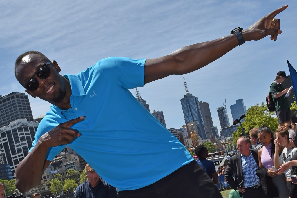 Usain Bolt helped launch the event in Melbourne ©Getty Images