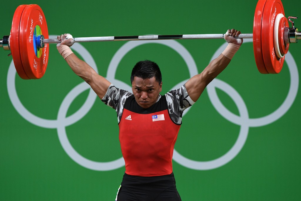 Hafifi Bin Mansor Mohd won one of Malaysia's gold medals at the 2016 Commonwealth Weightlifting Championships in Penang ©Getty Images