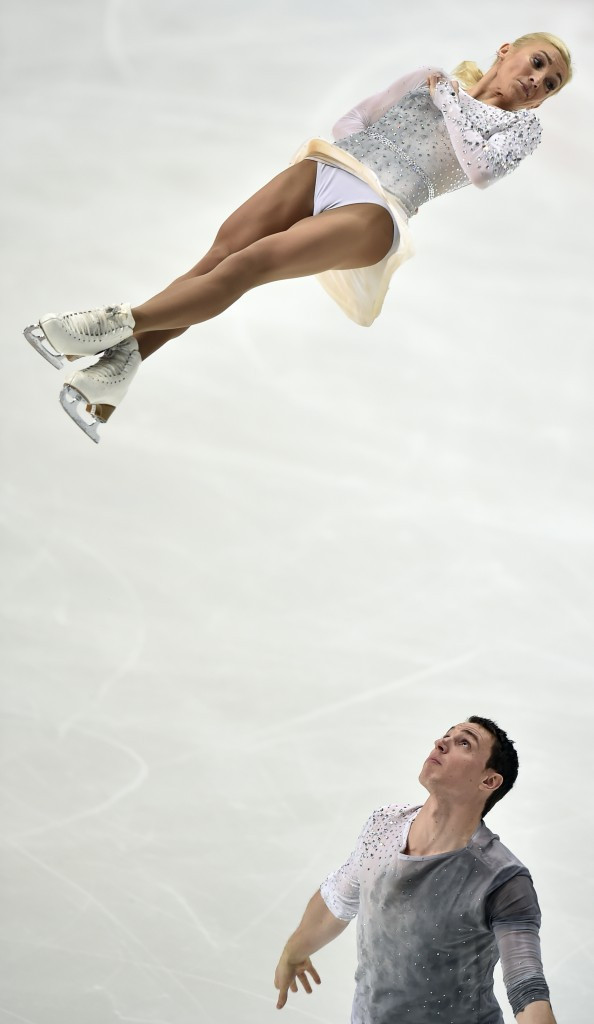 Germany's Aliona Savchenko and Bruno Massot won the pairs competition ©Getty Images