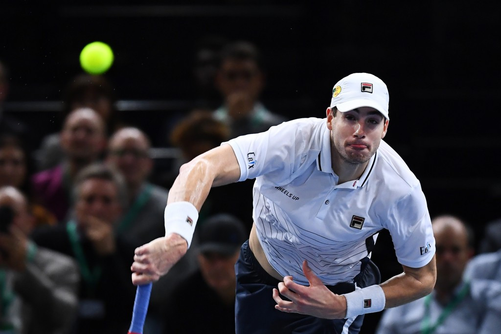John Isner will contest the Paris Masters final tomorrow ©Getty Images
