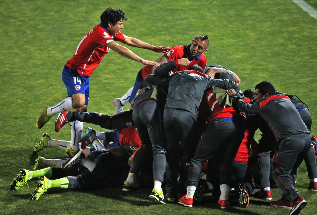 Hosts Chile edge holders Uruguay in bad-tempered Copa América quarter-final