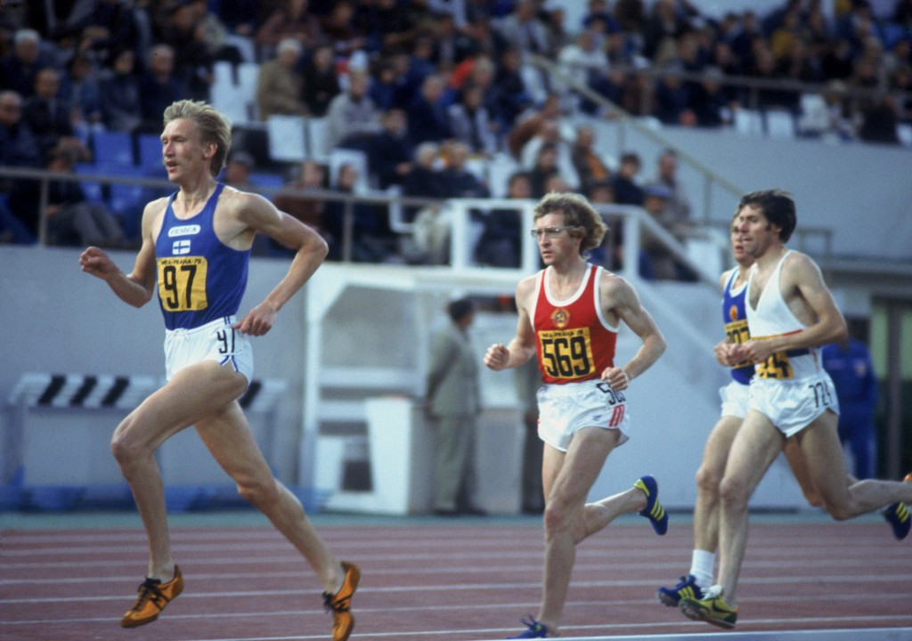 Martti Vainio (pictured, left, in 1978) was one of two medal winners to fail drugs tests at Los Angeles 1984 ©Getty Images