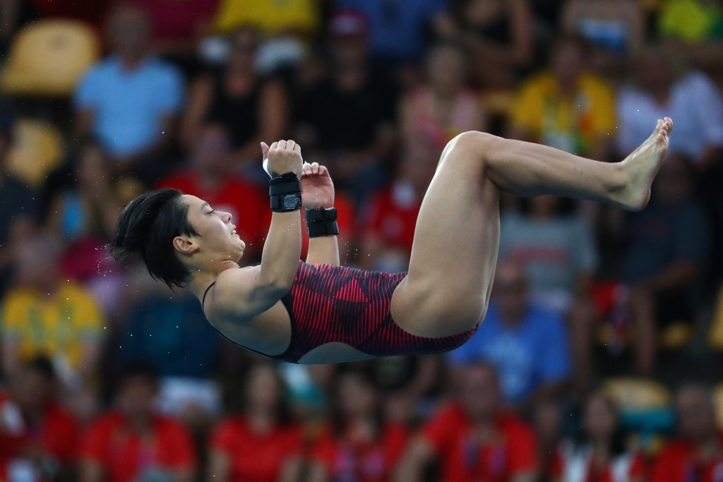 Japan's Minami Itahashi won silver in the women's 10m platform at the Diving Grand Prix ©Getty Images