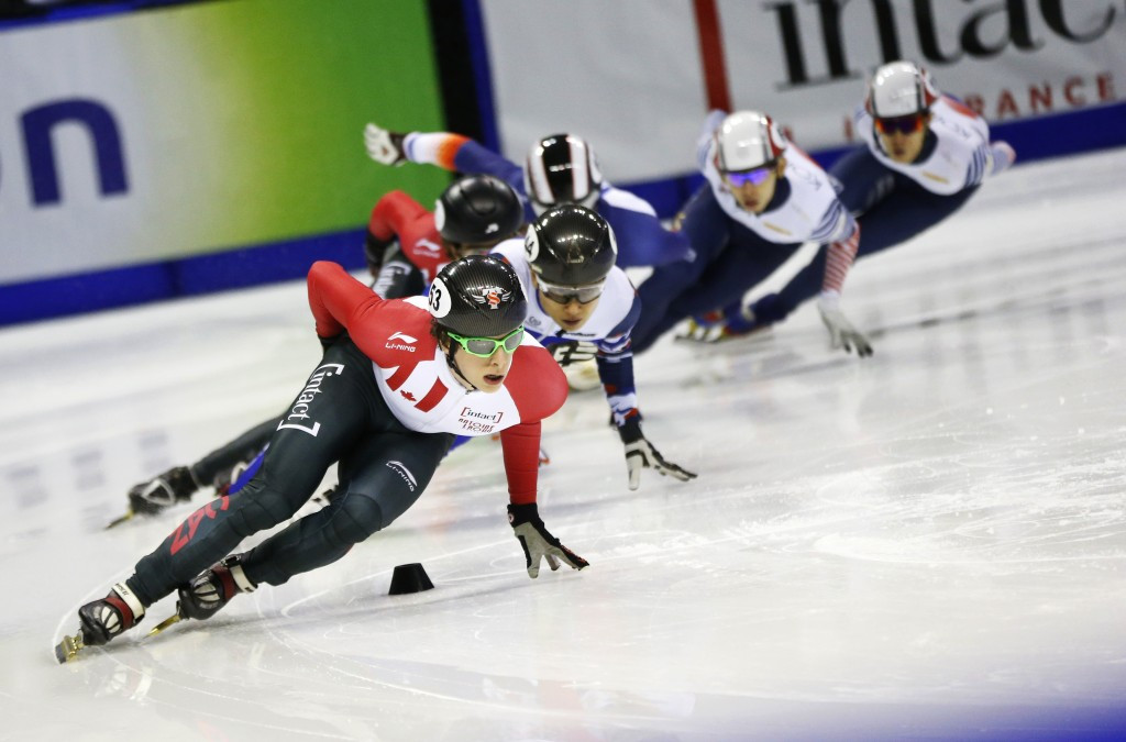 Cournoyer delivers home gold medal in Calgary at ISU Short Track World Cup