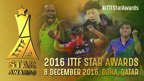Olympic champions head nominations for ITTF male and female star awards