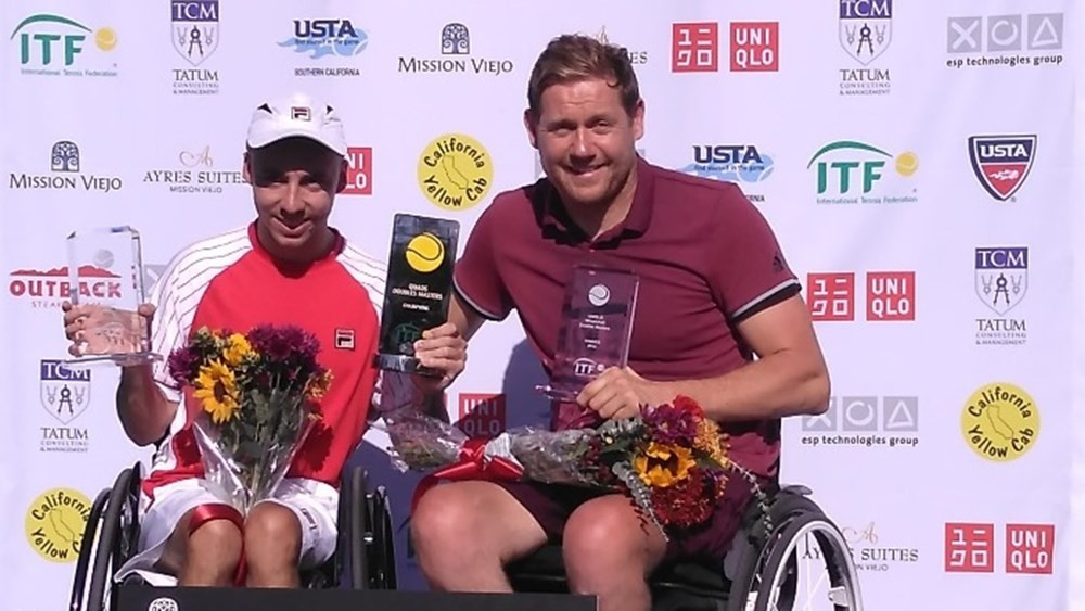 British duo end Taylor and Wagner's hopes of 10th UNIQLO Wheelchair Doubles Masters quad title