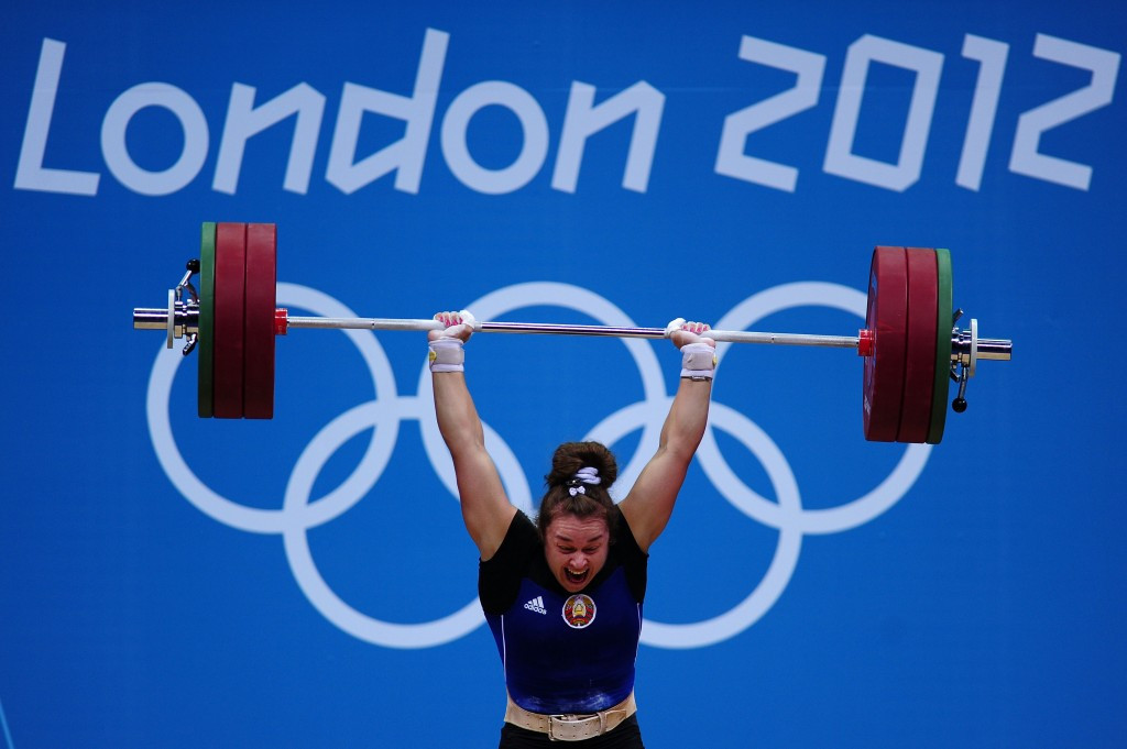 Belarus' Dzina Sazanavets has been disqualified from the women's 69kg competition at London 2012 ©Getty Images