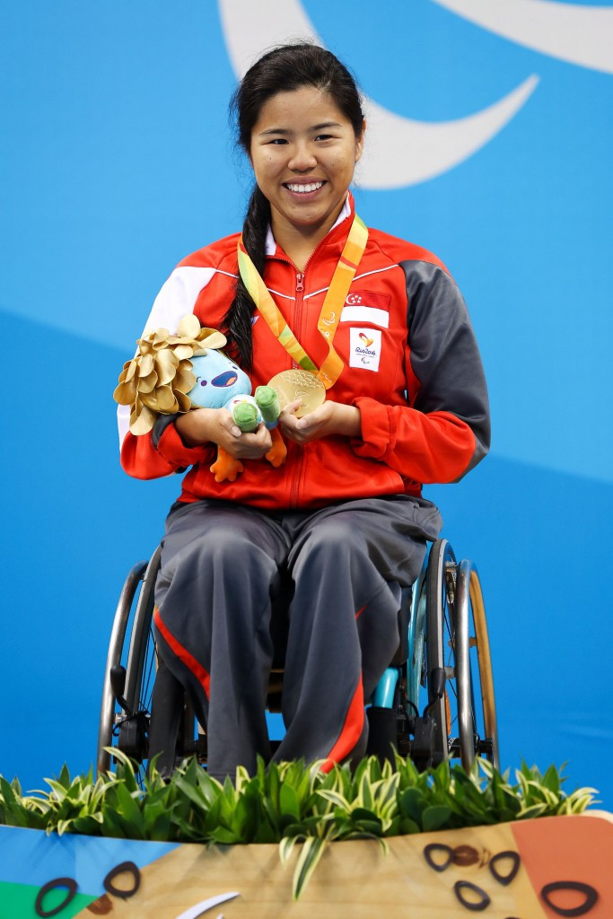 Swimmer Yip Pin Xiu claimed two of the three Paralympic medals Singapore won at Rio 2016 ©Getty Images