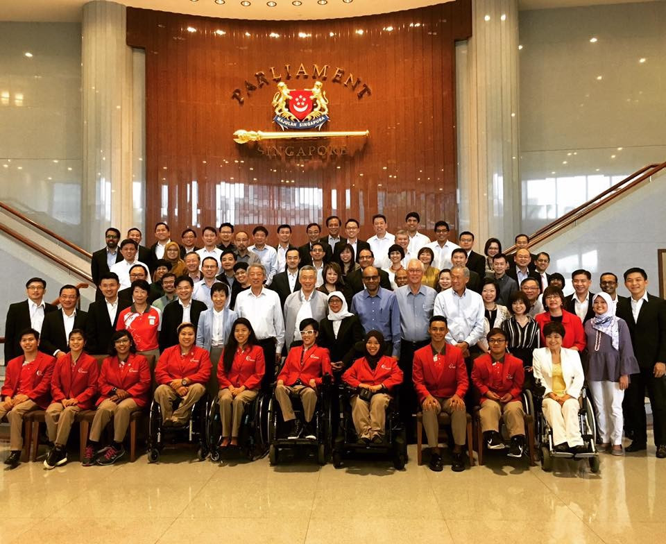 Singapore's Paralympians have attended a Parliamentary session in which the Government moved a motion to celebrate their success ©Facebook
