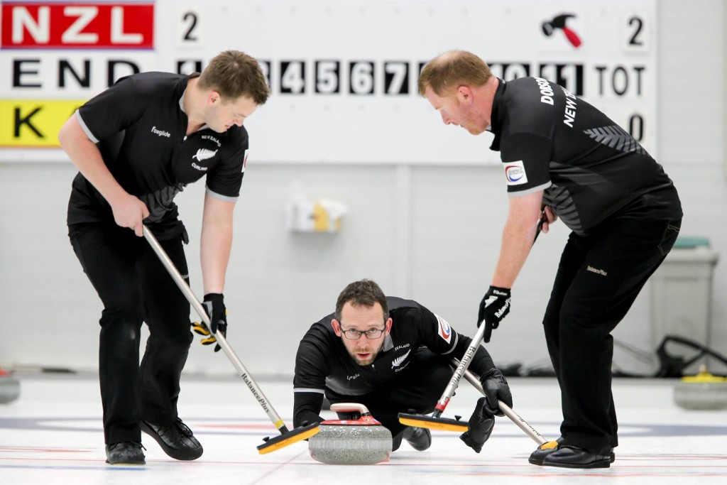 New Zealand defeated Australia 8-2 today at the Pacific-Asia Curling Championships ©WCF/Facebook