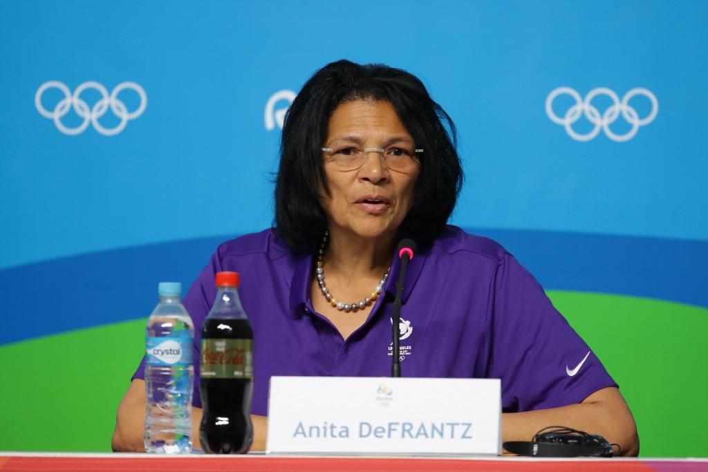 Anita DeFrantz believes Los Angeles 2024 will help advance women's sport ©Getty Images