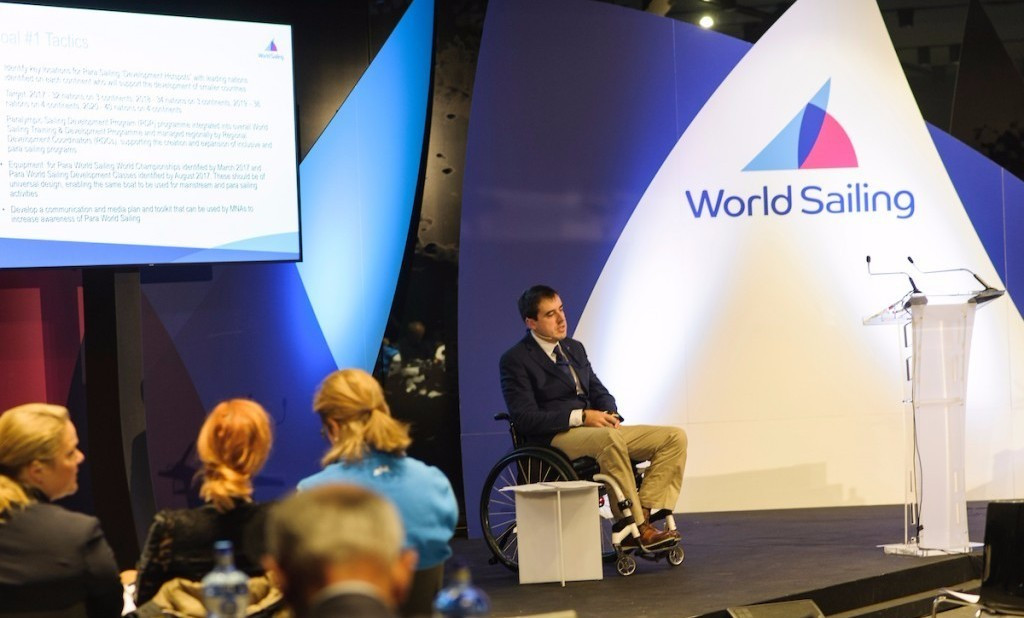 Para World Sailing Manager Massimo Dighe presented a strategic plan aimed at getting the sport back into the Paralympic programme ©World Sailing