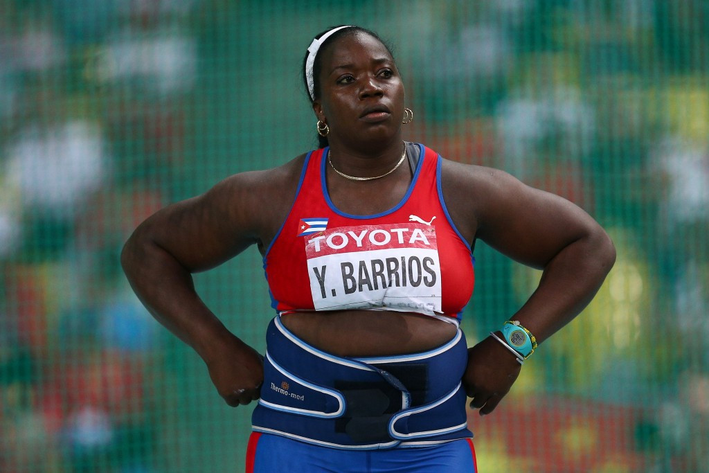 It has been reported that Yarelys Barrios is unable to return her medal because she had sold it on eBay ©Getty Images