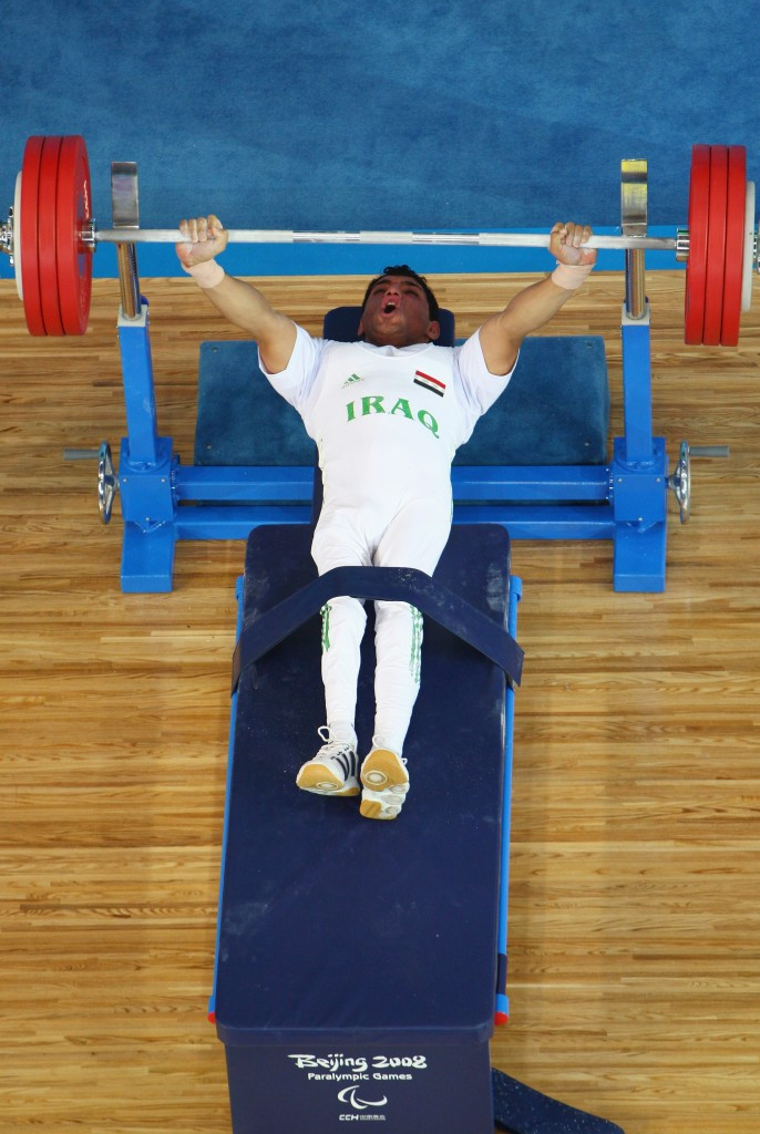 Rasool Mohsin was one Iraqi powerlifter to win a Paralympic medal under Antranik Nahabeet's tutelage ©Getty Images