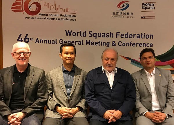 Fontaine targets Olympic place after election as new World Squash Federation President